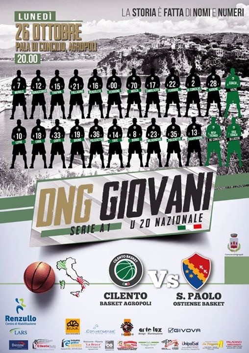 Cilento Basket Under 20, questa sera esordio in DNG