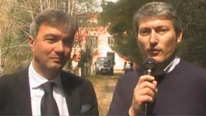 Il sindaco di Castellabate Costabile Spinelli e il presidente del Parco Tommaso Pellegrino.