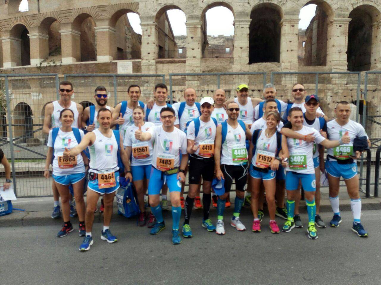 I 'Castellabate Runners' scalano la classifica della 23^ Maratona di Roma