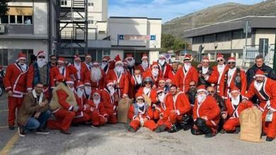Photo of Babbo Natale arriva in moto all'ospedale di Polla