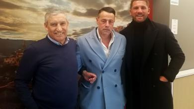 Photo of L'ex calciatore Stendardo in visita alla Bcc Aquara