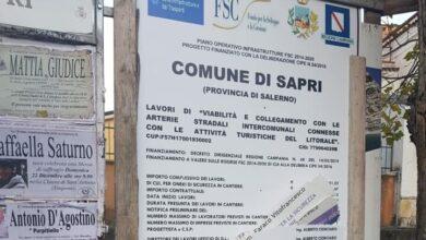 Risultati immagini per cartello lavori danneggiato sapri