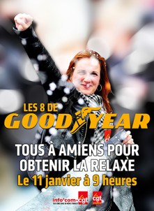 relaxe pour les GOODYEAR, Amiens 11 janvier