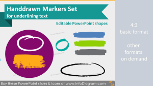 Handwritten markers highlighters for PowerPoint