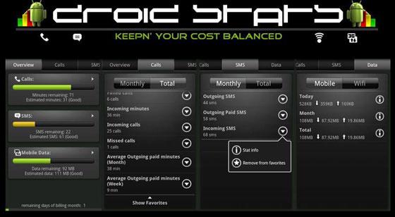 DroidStats - Fique por dentro do que o seu Android anda consumindo