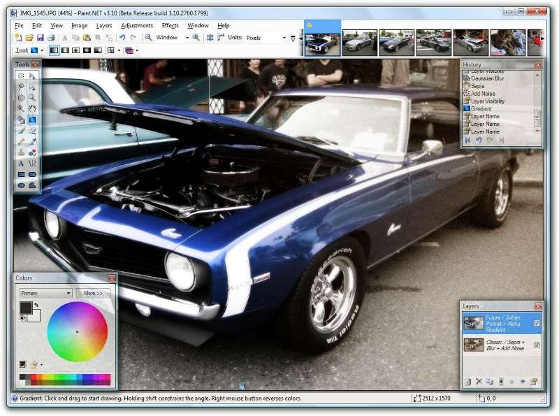 Paint.net - Absurdamente simples, rápido e eficiente