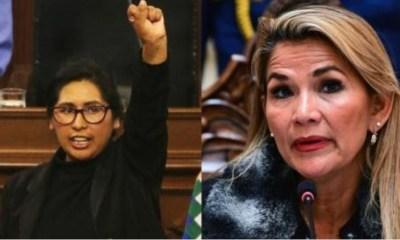 Eva Copa y Jeanine Áñez