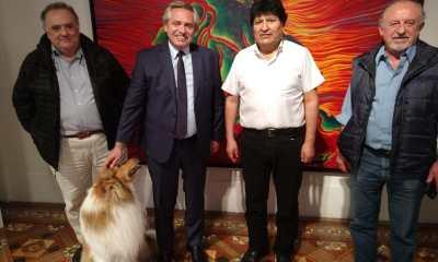 Reunión de Alberto Fernández y Evo Morales