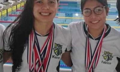 Campeonas en natación