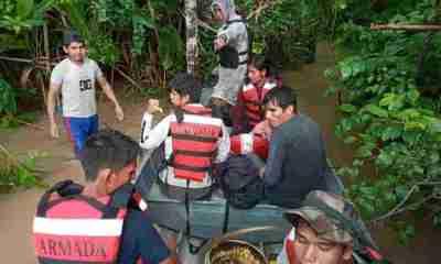 Personas atrapadas por el Río Ichilo
