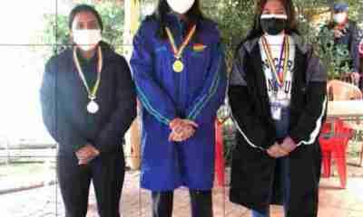 Nadadoras bolivianas en Sudamericano Argentina