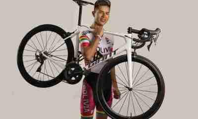 Ciclista boliviana José Aramayo