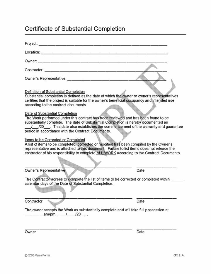 job completion certificate format