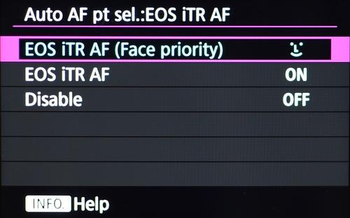 Kamera ini bisa mendeteksi wajah tanpa kesulitan berkat EOS iTR AF
