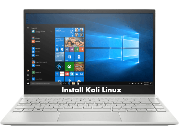 How to install Kali Linux on HP Envy 13-ah0044TX from USB