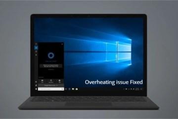Microsoft Surface Laptop 2 Overheating