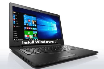 Install Windows 7 on Lenovo Ideapad 110