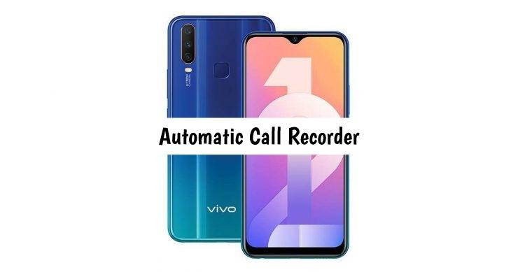 Vivo Y12 Call recorder