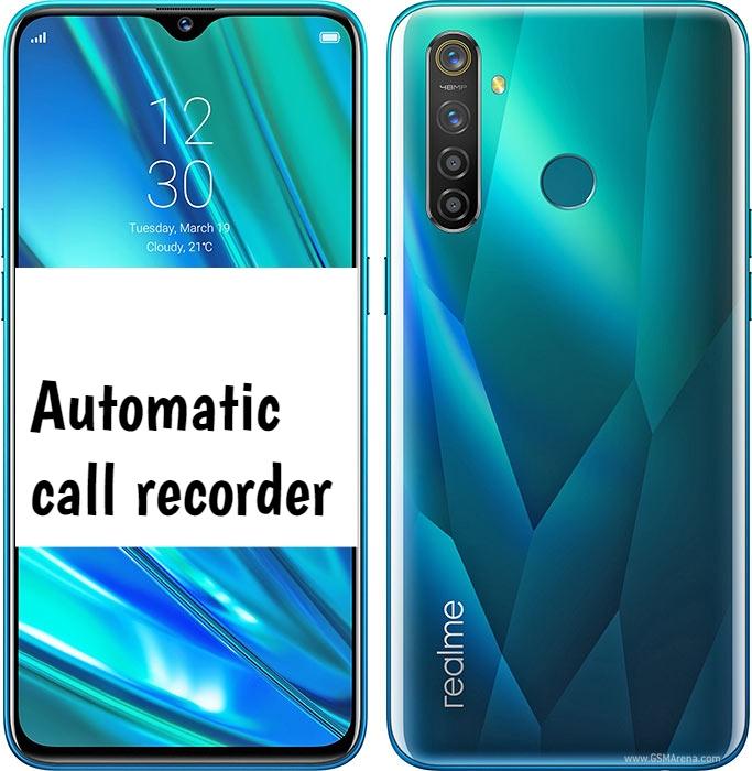 Realme 5 Pro Call recorder