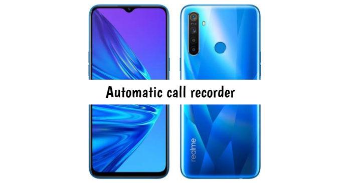Realme Q Call recorder