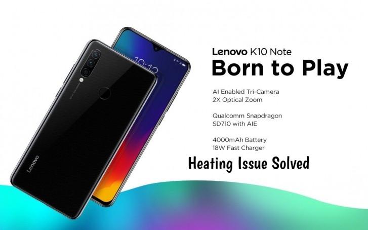 Lenovo K10 Note Heating issue
