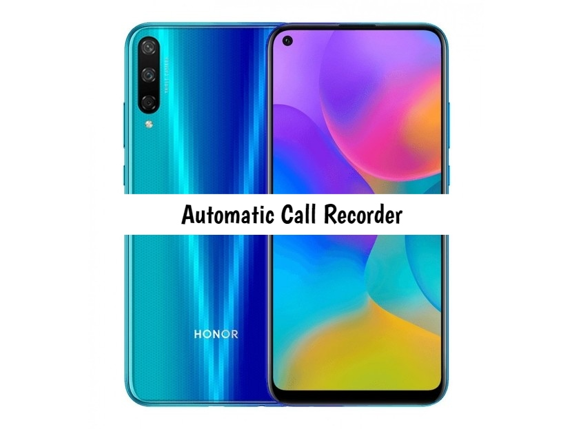 Honor Play 3 Call recorder