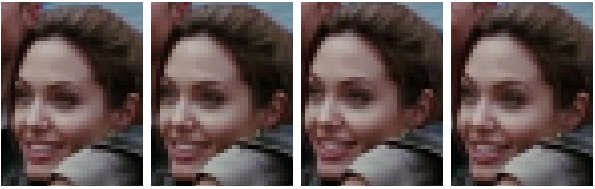 low res video frames zoomed 4x