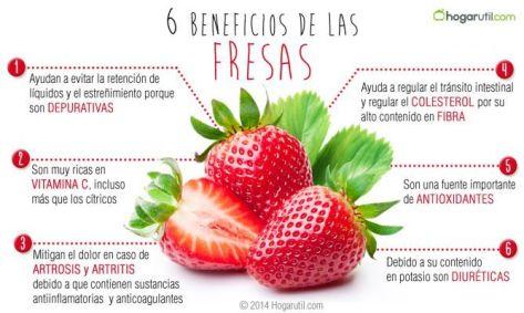 beneficios de las fresas