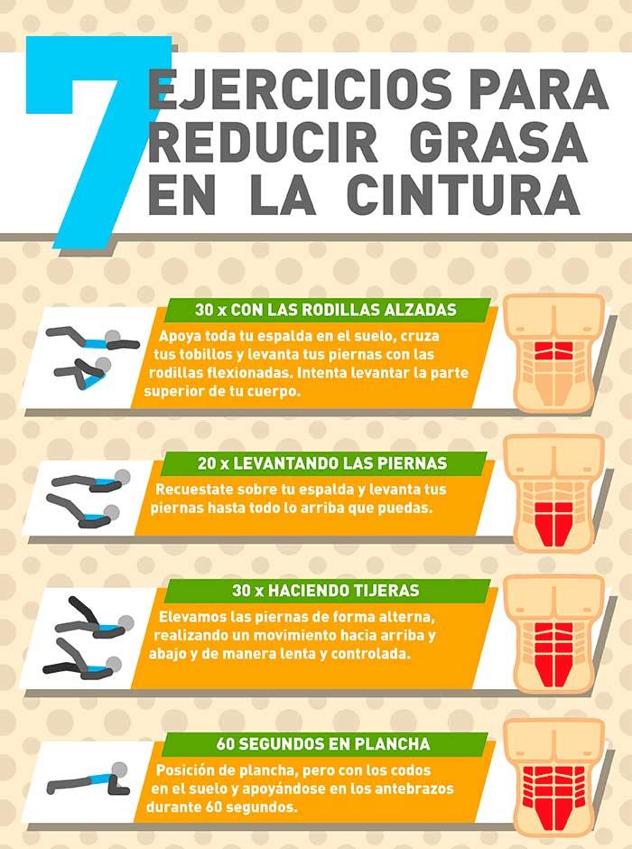 7 Ejercicios abdominales para reducir la grasa de la cintura  Infografas y Remedios