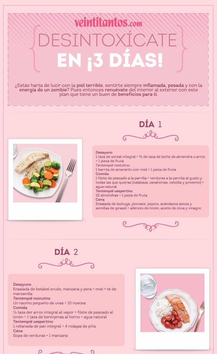 Dieta desintoxicante en 3 das Infografa con recetas