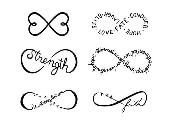 Tatuajes De Infinito Los Símbolos Y Sus Significados 80 Ideas