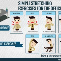 Office Chair Yoga Pdf Green Armchair Covers Stretching Exercises For The Infographic Post