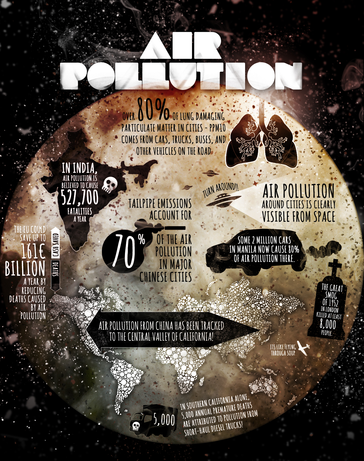 Air Pollution Facts Infographic