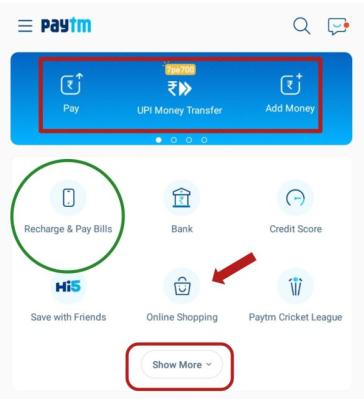how to use Paytm for mobile Recharge