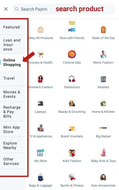 how to use Paytm for online shopping