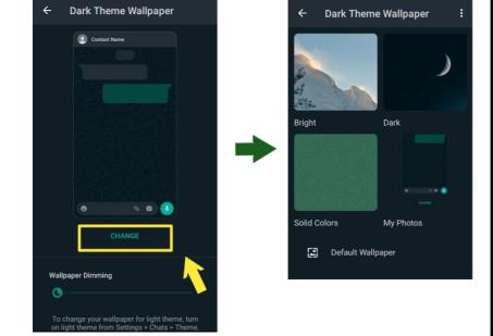 How to change chat background wallpaper in WhatsApp