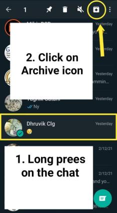 How to hide a chat in WhatsApp