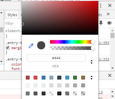 Paleta de colores del navegador