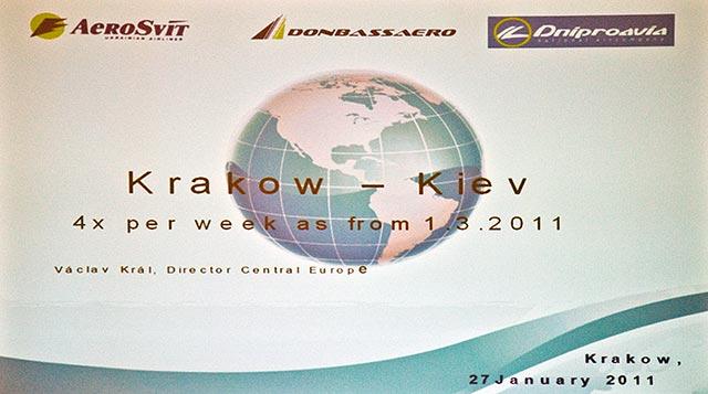 """Z Krakowa do Kijowa z """"Aero Svit"""""""