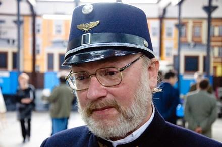 Waldemar Brzoskwinia - jeden z twórców wystawy
