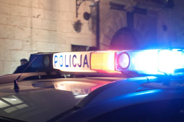 Policja-błysk.Fot. Michał Nowak/ InfoKraków24