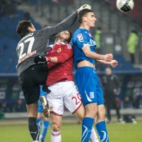 W meczu 21 kolejki Ekstraklasy na stadionie w Krakowie spotkały się drużyny Wisły Kraków i Lecha Poznań.