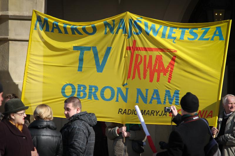 Protest o pasmo dla TV Trwam [zdjecia]