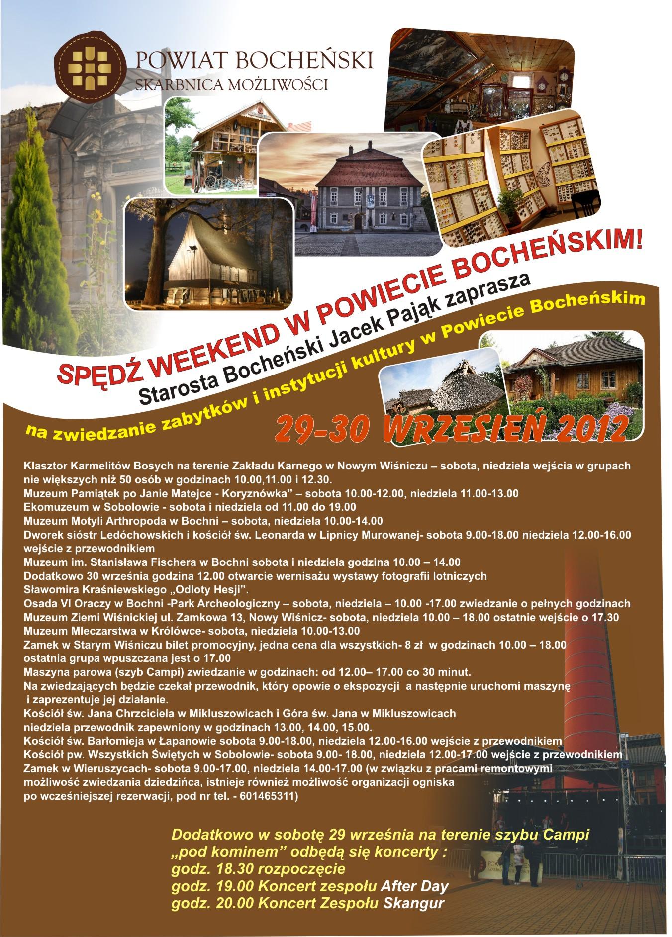 Weekend z zabytkami w powiecie Bocheńskim