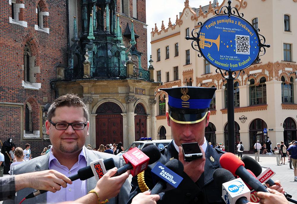 Telefon jak trąbka! -  Wyjątkowa pamiątka z Krakowa [ zdjęcia ]