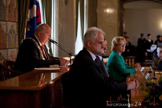 Przewodniczący Rady z Zastępcami - Sesja Rady Miasta Krakowa. Fot. Jan Graczyński / INFO Kraków24