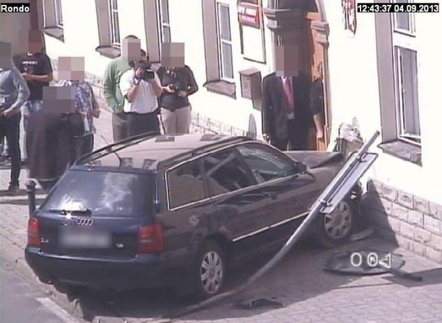 Kolizja Audi. Fot.Małopolska Policja