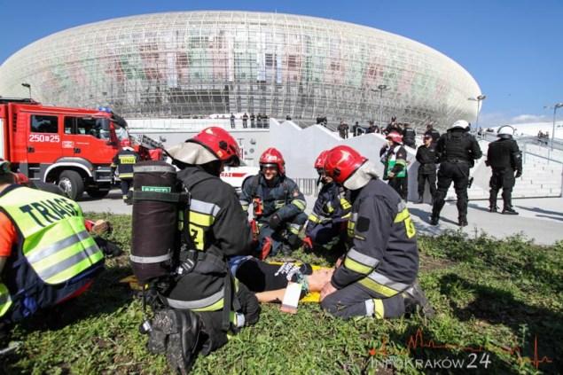 Ćwiczenia Służb na wypadek ataku terrorystycznego. Fot. Jan Graczyński / INFO Kraków24