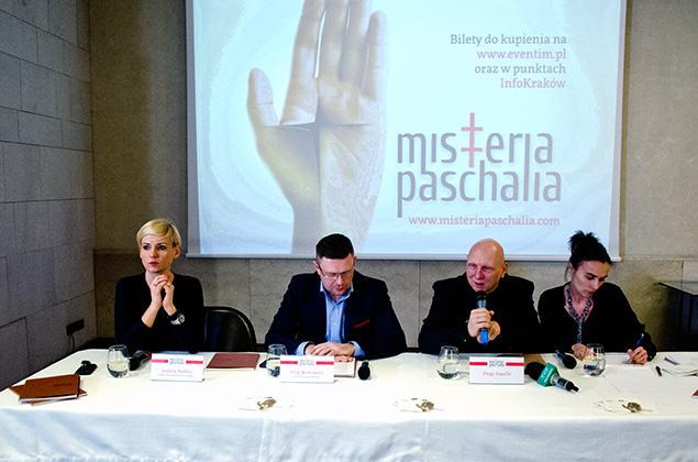Konferencja zapowiadająca Festiwal Misteria Paschalia 2015. Fot. Bogusław Świerzowski / INFO Kraków24