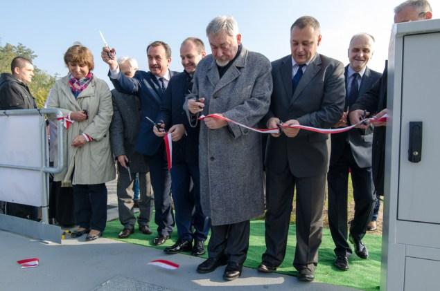Uroczyste otwarcie zbiornika retencyjnego na rzece Serafa. Fot. Bogusław Świerzowski/ INFO Kraków24